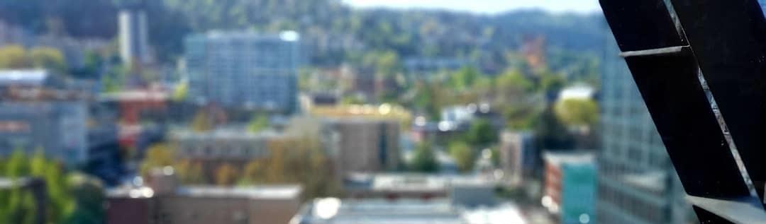 blurred buildings